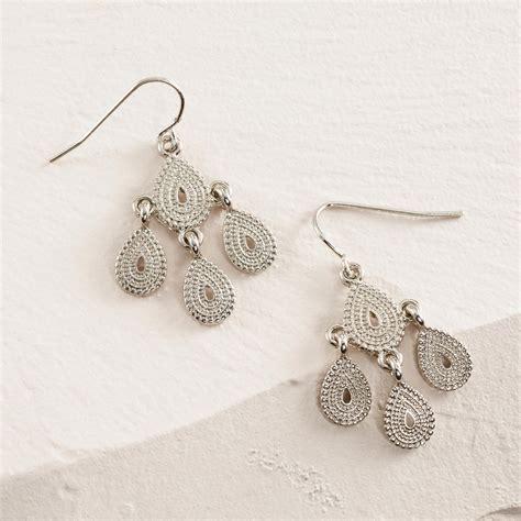 Small Chandelier Earrings Small Silver Chandelier Earrings World Market