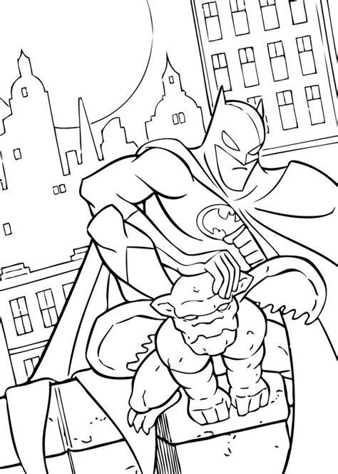 batman coloring pages hellokids com batman and gargoyle coloring pages hellokids com