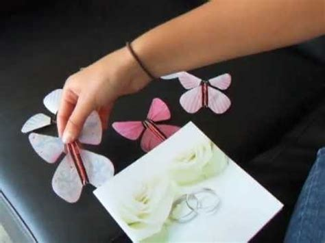 Paper Diy Place Card Holder Butterfly Template by Unique Diy Wedding Invitation With Flying Paper