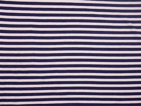 White Strif Navy single jersey stripe fabric navy white