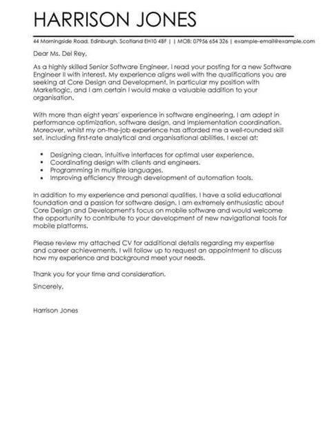 cover letter for software developer position software engineer cover letter template cover letter