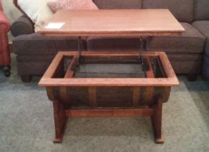 amish whiskey barrel table whiskey barrel lift top coffee table amish oak furniture
