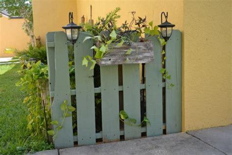 Zaun Aus Europaletten by Europaletten Im Garten Verwenden 25 Thematische