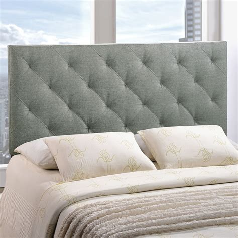 fabric tufted headboard theodore fabric headboard tufted gray dcg stores