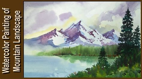 watercolor tutorial mountains watercolor painting watercolor tutorial of simple