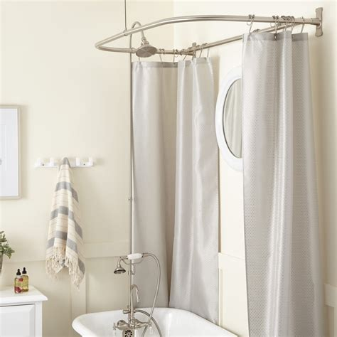 clawfoot bathtub shower kit clawfoot tub shower enclosure with faucet showerhead and