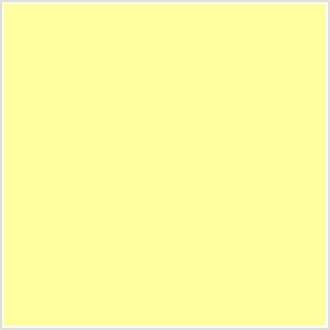 light yellow color code ffff9e hex color rgb 255 255 158 pale canary
