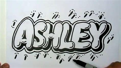 draw ashley  graffiti letters write ashley