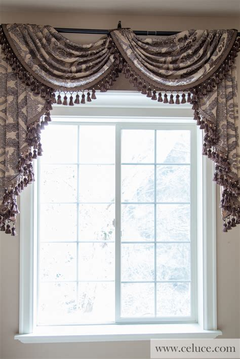 curtains with swag valance queen spades pole swag valance curtains