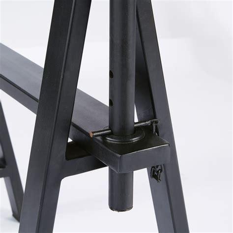 scrivania metallo scrivania stile industriale in legno massello di mango e