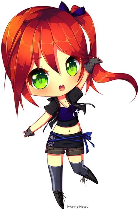 cute anime chibi girl with red hair anime chibi a collection of other ideas to try chibi