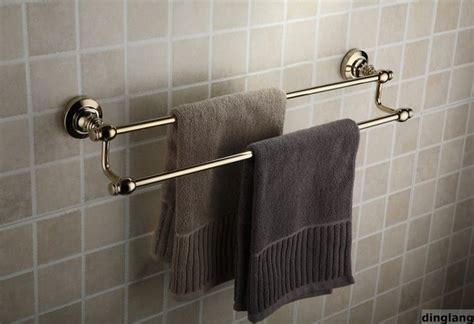 towel bar bathroom 24 quot polished brass bathroom dual towel bar contemporary