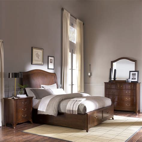 Cherry Bedroom Furniture American Drew Cherry Grove Sleigh Bedroom Set Atg Stores