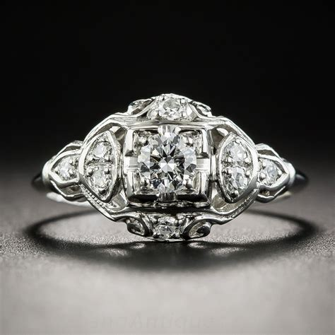 Deco Engagement Rings by Platinum Deco Engagement Ring