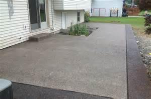 aggregate patio exposed aggregate concrete real help custom concrete