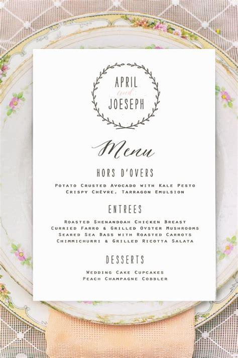 wedding table menu ideas best 25 wedding menu cards ideas on menu