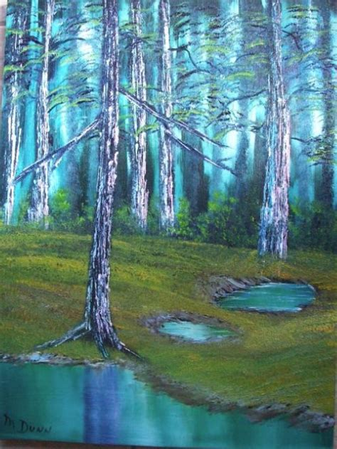 bob ross painting enchanted forest secluded forest jpg