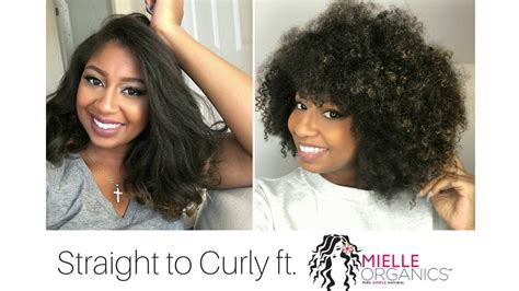 curly hair gone straight how to go from straight to curly with mielle organics