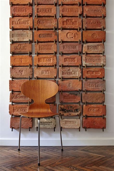 bricks for wall decor antique bricks used as wall cool idea