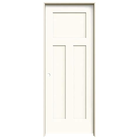 jeld wen interior doors shop jeld wen craftsman white 3 panel craftsman hollow