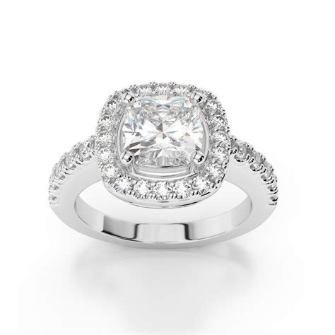 cushion cut engagement rings with no halo cushion halo engagement ring with side stones