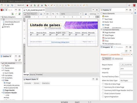 design jasper report online creando informes en java con jasperreports desde