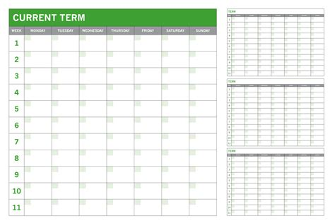 school office and term planner whiteboards branded