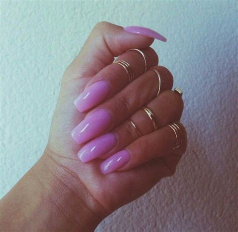 light tips light pink square tip acrylic nails nails 2