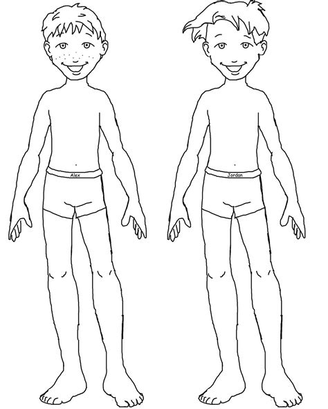 template of boy and paper doll template www imgkid the image kid has it