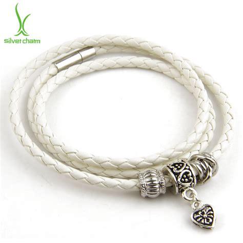 bracelet wholesale aliexpress buy wholesale silver charm black leather