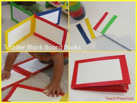 How To Make A Book With One Of Paper - how to make blank toddler board books teach preschool