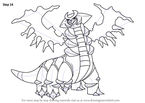 pokemon coloring pages giratina learn how to draw giratina from pokemon pokemon step by