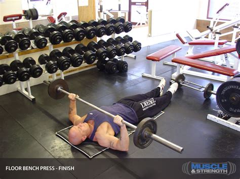 floor bench press floor bench press video exercise guide tips