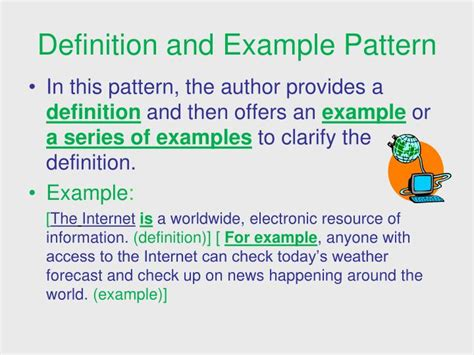 pattern definition in english ppt signal words patterns of organization powerpoint