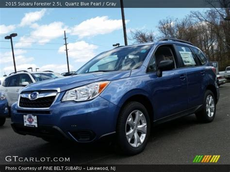 blue subaru forester 2015 quartz blue pearl 2015 subaru forester 2 5i gray