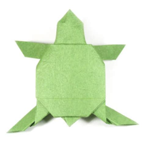 Easy Origami Turtle - how to make an origami turtle page 1