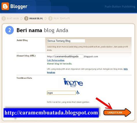 blogger atau blogspot cara membuat blog atau website baru gratis di blogspot