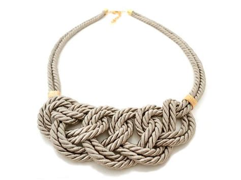 rope for jewelry beige rope nautical knot statement necklace