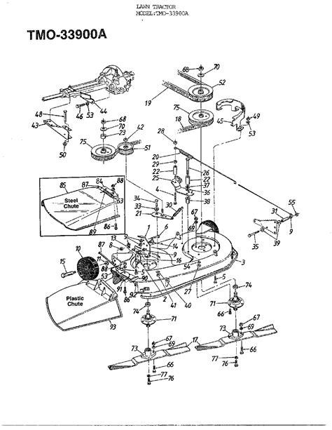 mtd mower parts huskee mower parts diagram huskee free engine