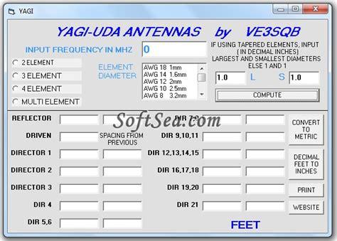 uhf antenna yagi uhf antenna calculator
