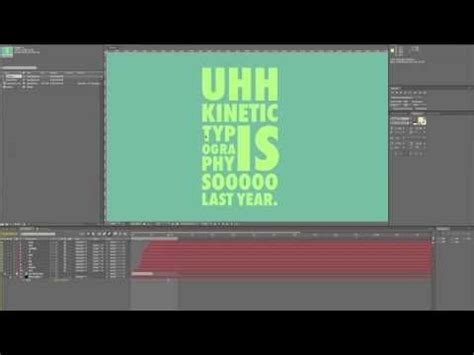 tutorial after effects kinetic typography decent kinetic typography tutorial incase we decide to do
