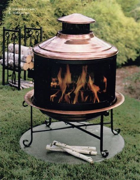 solid copper pit 17 best images about outdoor fireplaces chimineas on
