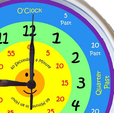 printable learning clock minieco co uk learn to tell time what the time clock by kids art 25cm ebay