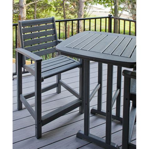 high top outdoor patio furniture polywood signature 3 hi top set furniture for patio