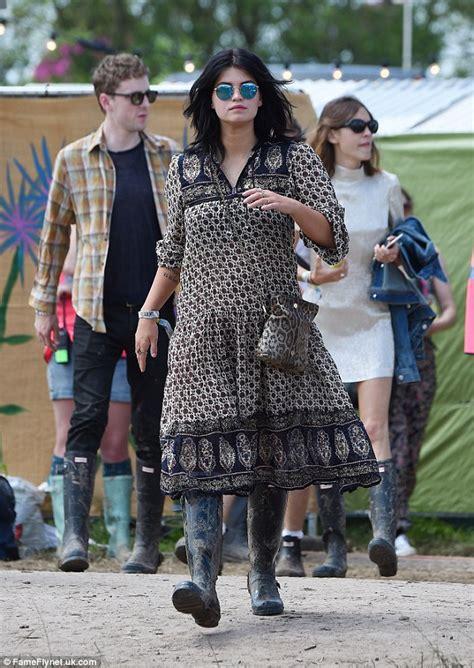Fashion Pixie Geldof In Diesel Jumpsuit At Glastonbury by Lowe Displays Sideboob With Pixie Geldof At