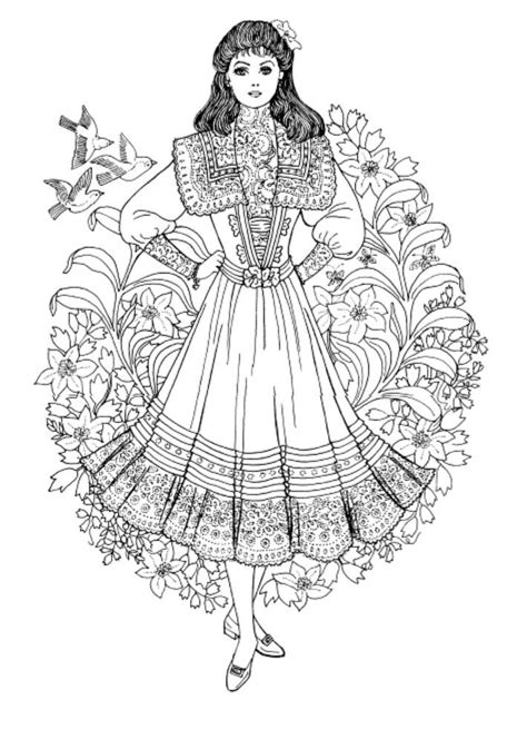nouveau coloring book nouveau coloring book nouveau fashions coloring