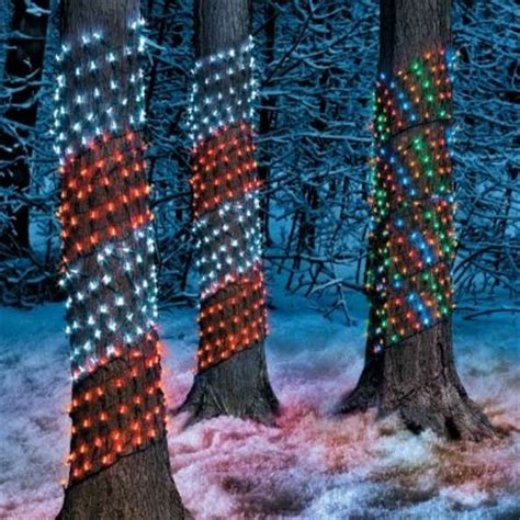 lights for tree trunks tree trunk net lights garden