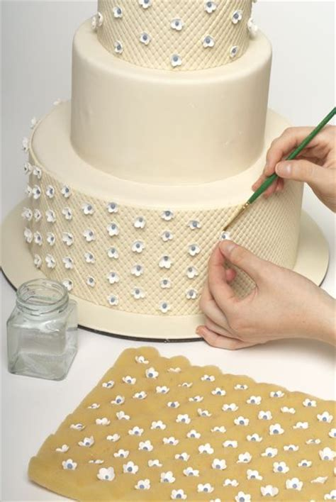 making quilted pattern fondant how to decorate a sweet wedding cake really this is a