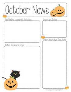 best photos of blank newsletter templates printable