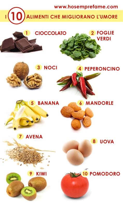 i 10 cibi migliorano l umore ricetta hosemprefame